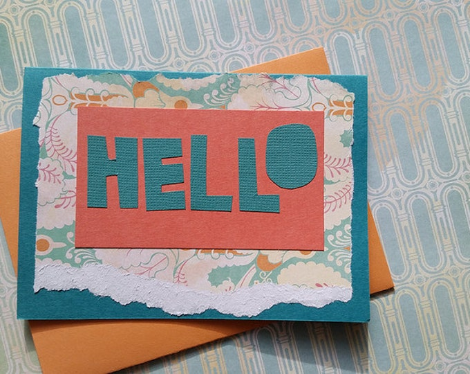 Hello (Teal & Cantaloupe) // Cards For All Occasions
