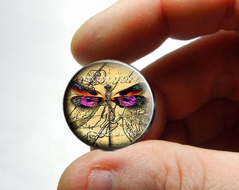 Glass Cabochon - Dragonfly D4 - for Jewelry and Pendant Making