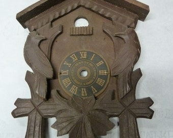 Vintage Cuckoo Clock Face Germany