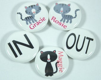 Kitty Cat Magnets, Cat Lover Gift, Cat Magnets, Cat Gift Set