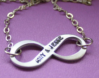 Infinity Necklace - Hand Stamped