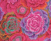 BRASSICA in RED / Kaffe Fassett , Phillip Jacobs fabric for Westminster Fabric / 1/2 yard Cotton, Quilt Craft and Apparrell fabric