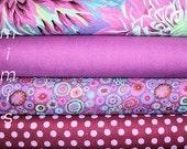 Purple, GREEN ,Blue ,PLUM Polka Dot Paperweight Purple / Kaffe Fasset fabiric,  4 Half Yard Bundle ,Phillip Jacobs,Westminster Cotton fabric