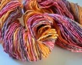 Fall Colors worsted superwash Merino/Bamboo luxury handspun yarn