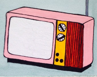 Midcentury Television Print (limited edition 1 of 25)