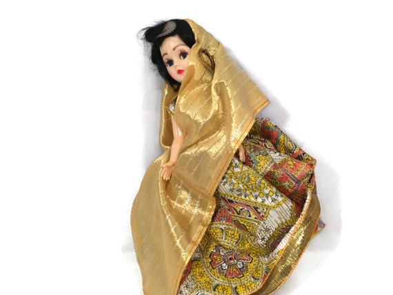 Vintage Indian Doll 1950s 1960s Collectible Toy By Duckwells