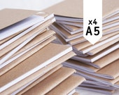 BLANK 4 pack, recycled, made in Australia, A5 notebooks