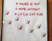 Every House Needs Some Dog Hair Framed Counted Cross Stitch