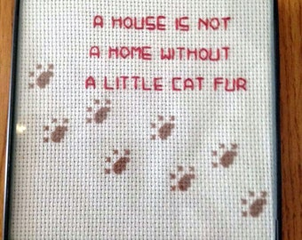 Every house needs some dog hair framed counted by thickpenguin for Every dog needs a home