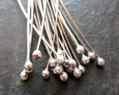 22 gauge Antiqued Sterling Silver Ball Tipped Headpins - 20 pieces