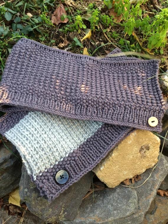 Broken Rib Button Scarf Knit Pattern by FullCircleFibers ...