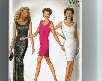 New Look Dress In Three Lengths Pattern 6605