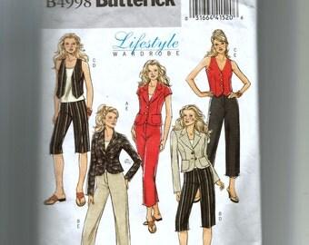 Butterick Misses'  Jacket, Vest, and Pants Pattern B4998