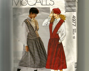 McCall's Misses' Jumper, Shirt , and Petticoat Pattern 4977