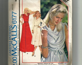 McCall's Dress or Top For Stretch Knits Only Pattern 6177