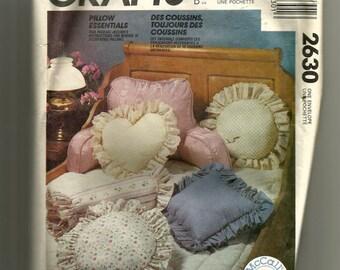 McCall's Pillows Pattern 2630