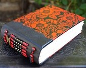 LOVE Lacquered YUZEN HYDRANGEA Covered Blank Art Journal Sketch Book Black and Red Bridal Book
