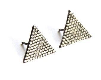 Birdhouse Jewelry - Sterling Triangle Earrings