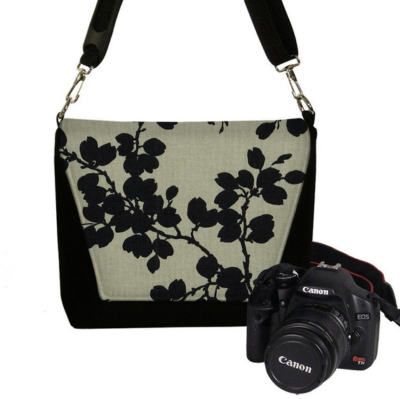 Black Floral Nikon Camera Bag Dslr Camera Case Cute Slr Camera
