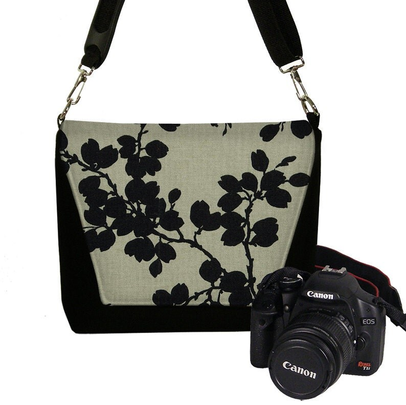 Black Floral Nikon Camera Bag Dslr Camera Case Cute Slr Camera
