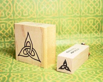 Trinity Knot Rubber Stamp Set of 2 Celtic Christian Symbol