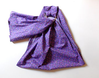 XL Doll Ring Sling - Toy Carrier - Doll Carrying Sling - Baby Doll Pouch Baby Doll Carrier - Doll Sling - Kids Ring Sling - Purple Polka Dot