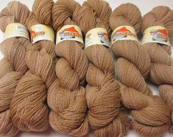 CLEARANCE Falkland Fingering Solids - Hand dyed gradient wool yarn, 210 yards, 50g/1.8oz, BUTTER RUM, hand painted semisolid ombre