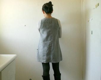 READY TO SHIP  / size M / grey linen tunic / women / linen clothing / organic / eco / made in australia / pamelatang