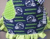 Aprons - Seattle Seahawks Womens Aprons - Blue Aprons - Green Aprons - Handmade Seahawks Aprons