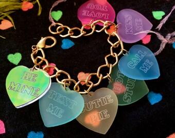 Valentine's Conversation Heart Charm Bracelet