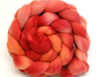 Dyed Merino Wool Hand Dyed Combed Top  Roving 100gms FM20 for Spinning or Felting