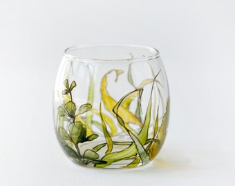 Round Glass Votive - Grass Fields Collection