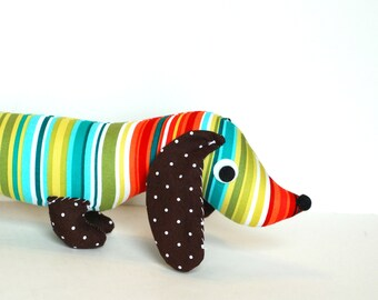 Childrens Stuffed Toy Wiener Dog Plush Dachshund DOTTY