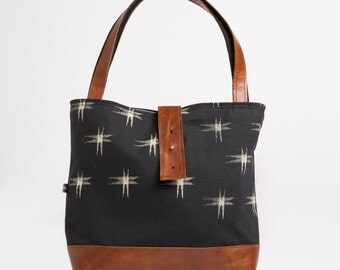 Ann Shoulder Bag in Kasuri Print