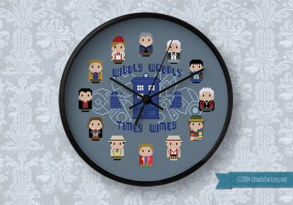 Doctor Who 12 Doctors Clock Cross Stitch Pdf Pattern