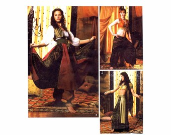 Belly Dancer Harem Pants Gypsy Costumes Simplicity 5359 Sewing Pattern Size 6 - 8 - 10 - 12 30 1/2 - 31 1/2 - 32 1/2 - 34 UNCUT