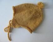 Yellow Wool Earflap Hat
