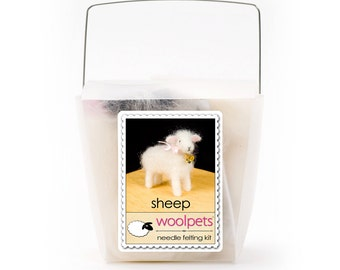 Sheep Needle Felting Kit by Woolpets