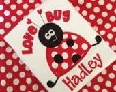 Valentines Applique Tshirt Love Bug Personalized Tee