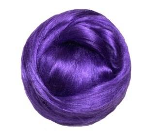 Purple Bamboo roving, wet, nuno felting, Needle Felting, Spinning Fiber, Heliotrope, purple roving, purple bamboo, vegan, silk alternative