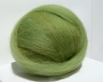 Pear Green wool roving, Spinning, Needle Felting Spinning wool, spring green, grey yellow green, apple green, w 3 samples *made to order*