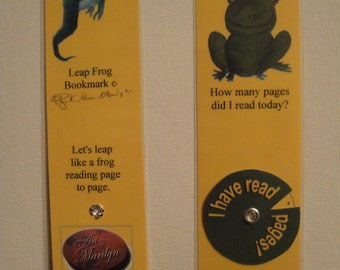 Bookmark with Leaping Frog A Fun Way TO READ!