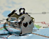 State of Michigan Silver Plated Adjustable Ring