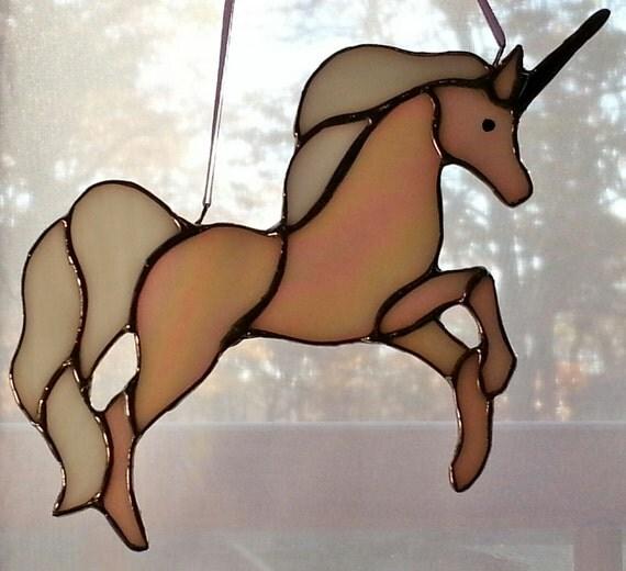 Stained Glass Unicorn Sun Catcher