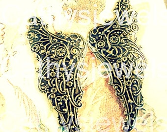 Vintage Closed Filigree  Angel Wings Three Sets
