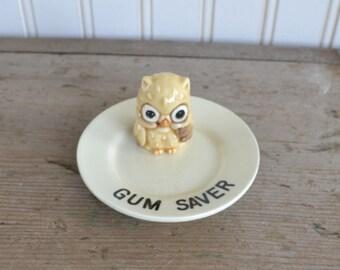 Vintage Owl Gum Saver - Japan - Plate - Silk Creek Gallery