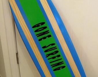 Surfboard Wall Art - Gone Surfing