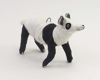 Vintage Style Spun Cotton Panda Bear Ornament/Figure