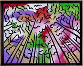 Original acrylic & mixed media painting on canvas - 11x14 - Skyward (v.1)