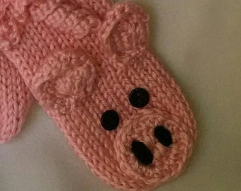 Pig Willy Warmer - pink pig willie warmer, penis cozy, mature